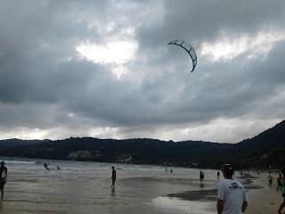 Patong beach kiteboarding