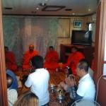 monks blessing