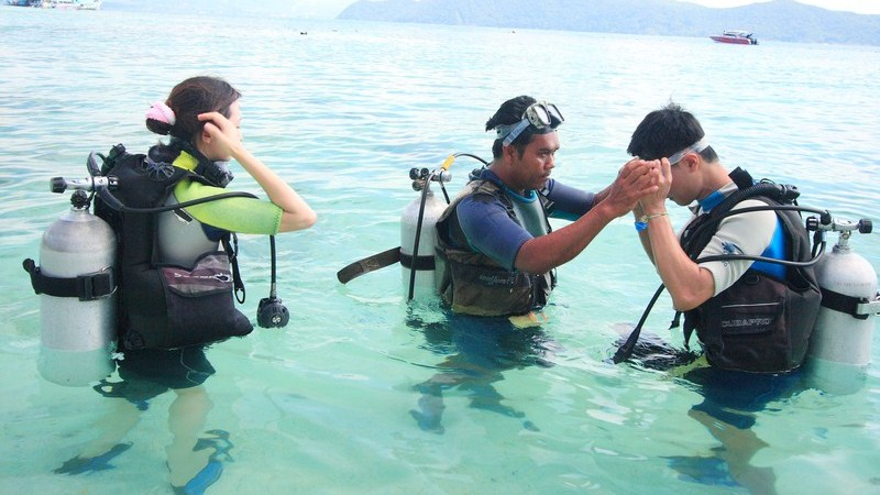 coral island diving DSD