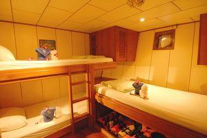 Deep Andaman liveaboard triple cabin