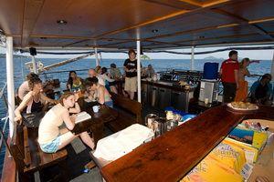 Deep Andaman liveaboard on deck