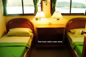 South Siam twin bed upper deck cabin