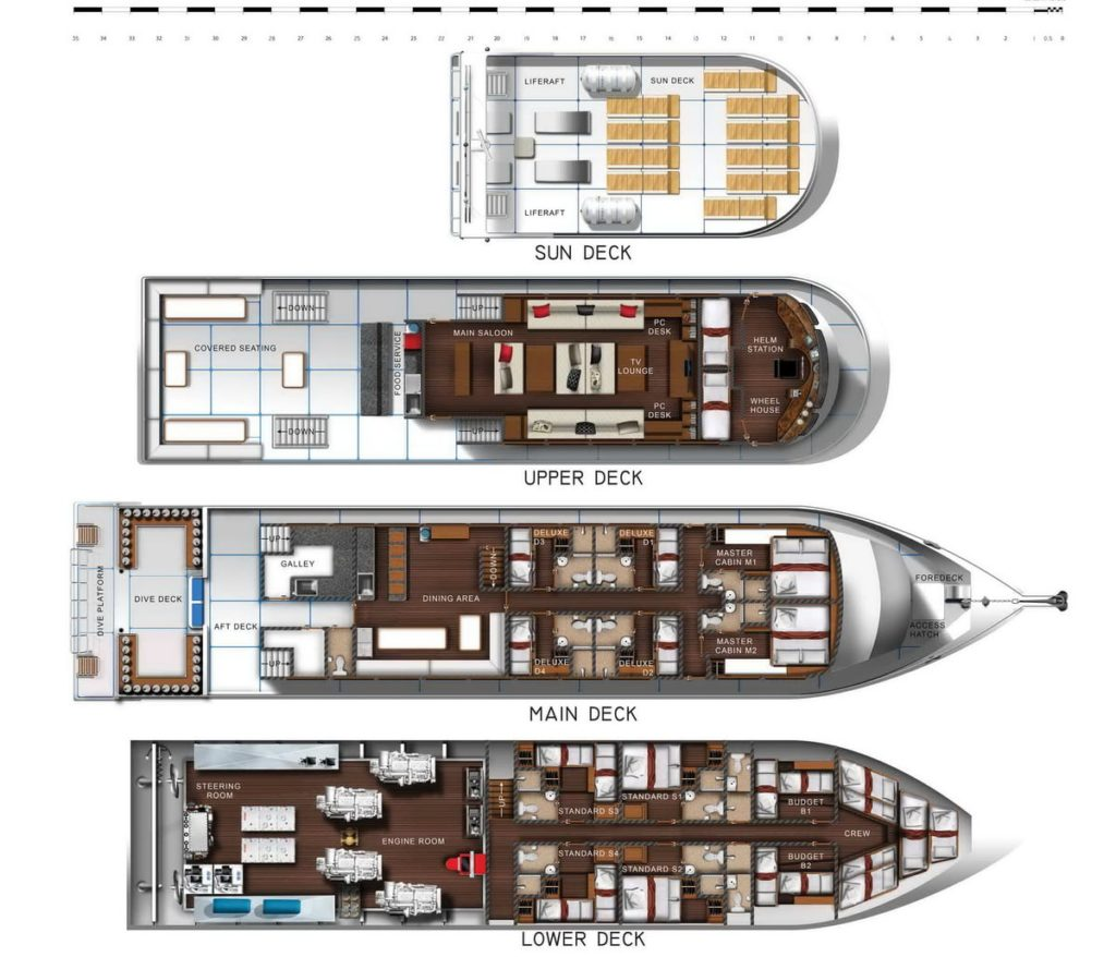 Pawara liveaboard layout