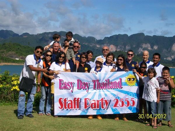 Khao Sok staff party