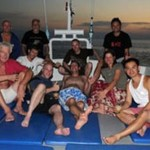 MV Andaman guests relaxing at sunset