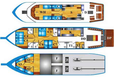 Andaman Tritan deck plan