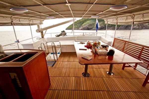 Giamani liveaboard upper deck