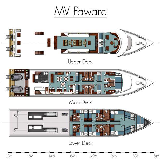 Pawara liveaboard layout