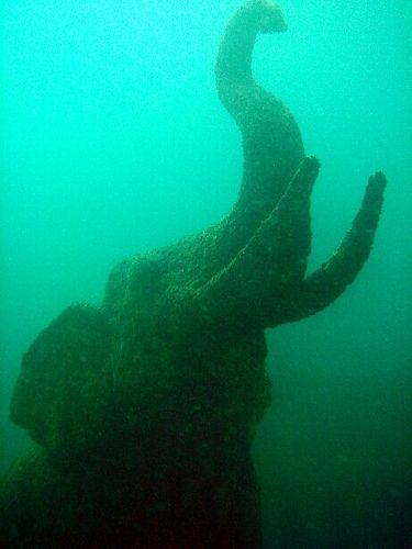 Siam Bay elephant statue