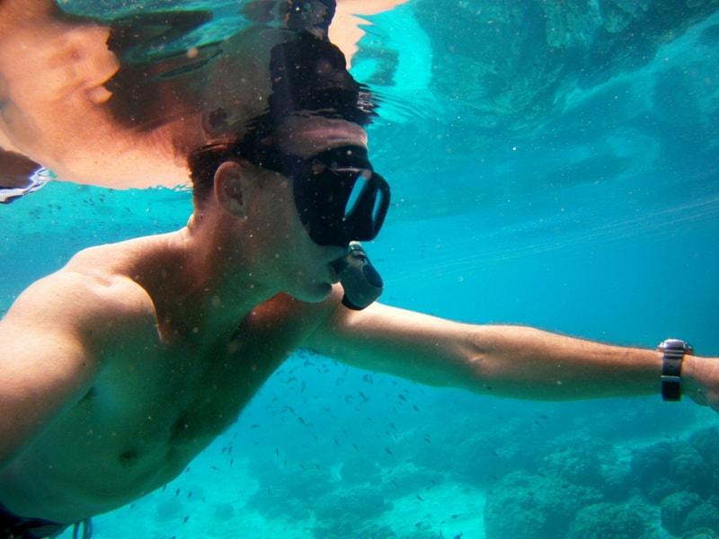 Paul snorkeling