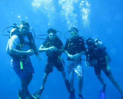 open water course on a similan liveaboard