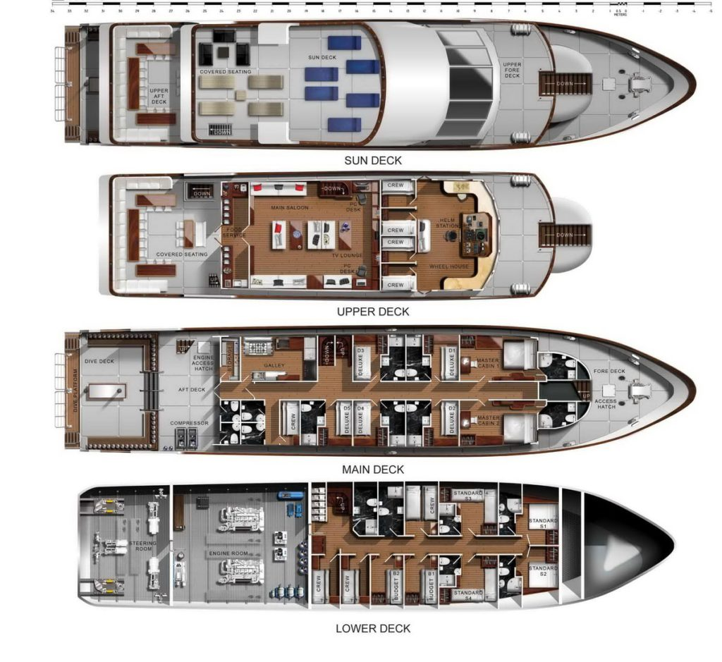 Sawasdee Fasai deck plan