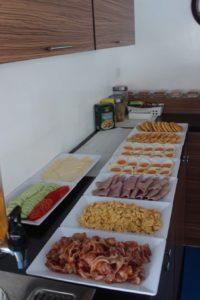 Bavaria liveaboard breakfast