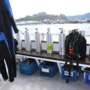 Bavaria liveaboard dive deck