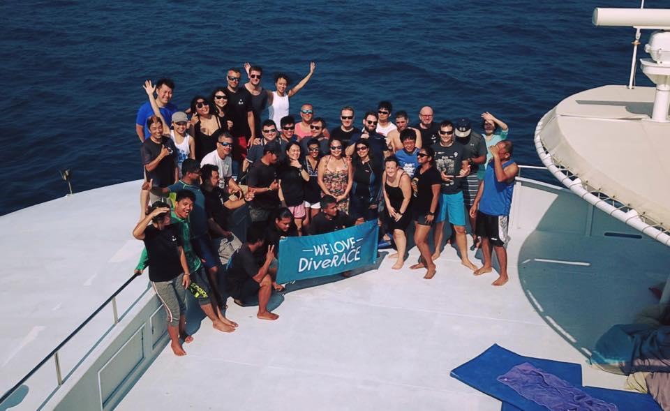 DiveRACE liveaboard guests