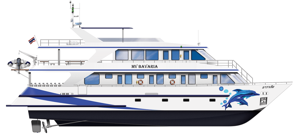 Bavaria liveaboard side profile
