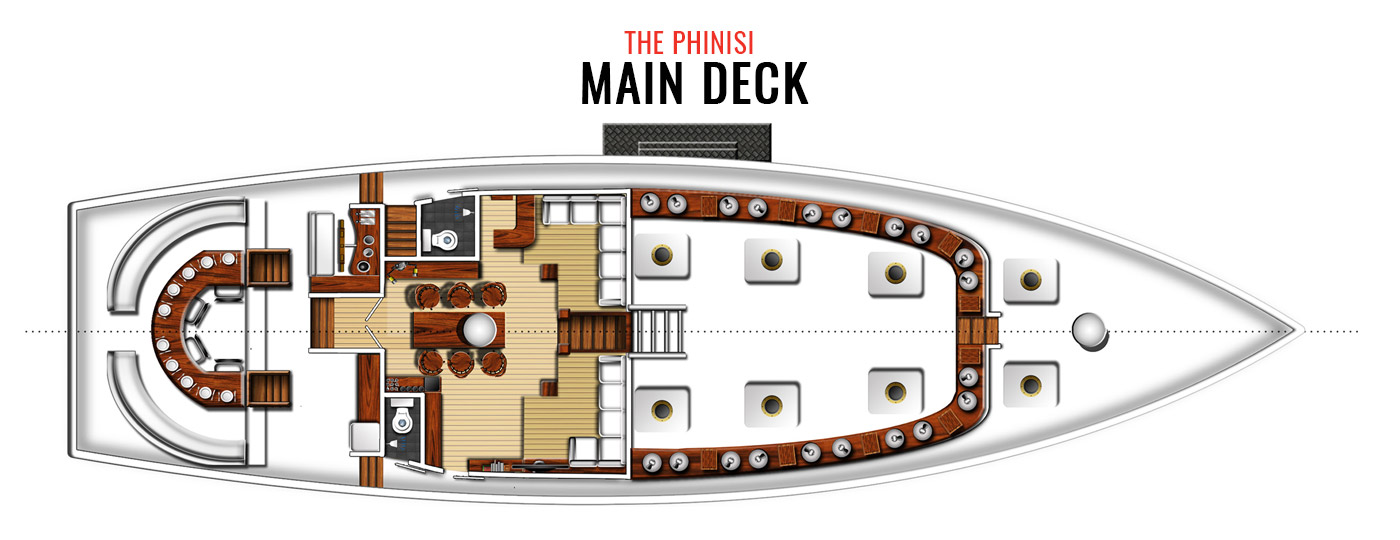 The Phinisi main deck layout