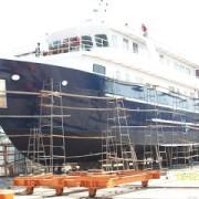 White Manta in Phuket shipyard