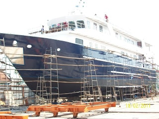 White Manta in Phuket shipyard