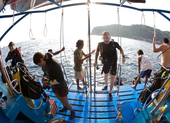 Dolphin Queen dive deck