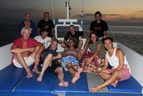 MV Andaman guests relaxing at sunset