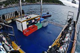 Scuba Explorer dive deck