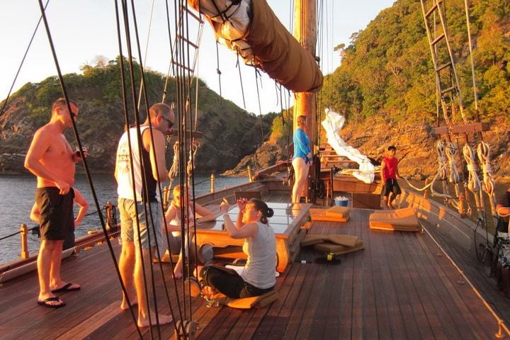 On deck Diva Andaman