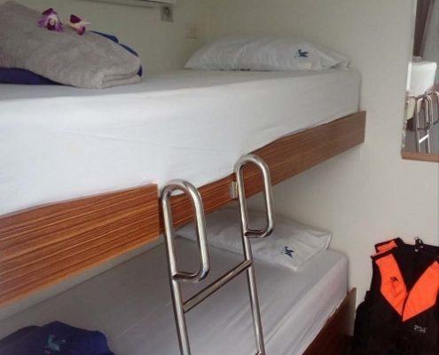 Bavaria liveaboard standard cabin