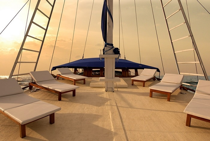 The Phinisi sundeck